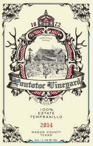 Estate Tempranillo_2014_Front