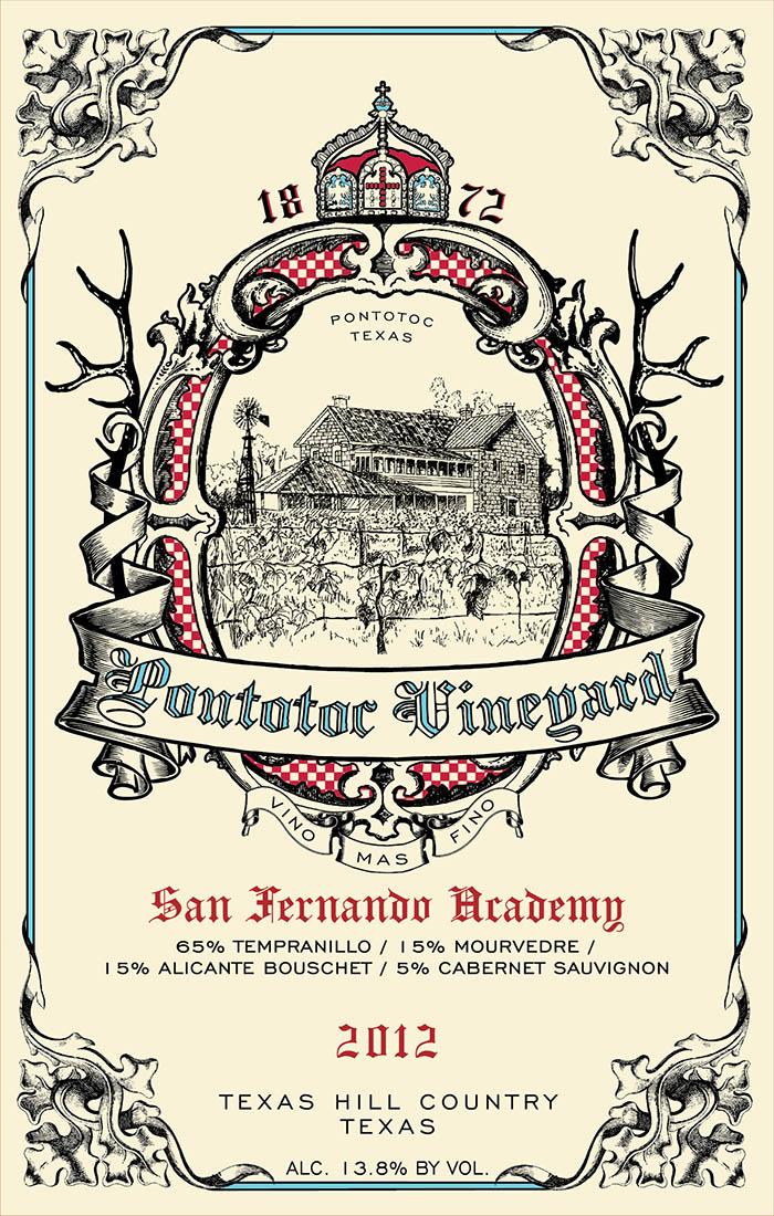 2012-San-Fernando-Academy-Tempranillo-Mourvedre-Alicante-Bouschet-Cabernet-Sauvignon