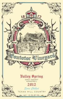 2012 Valley Spring Early Harvest Monastrell Wine