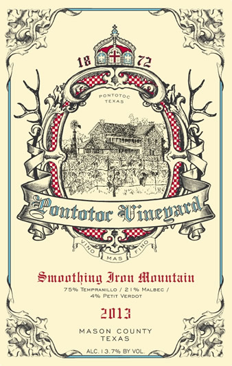 2013 Smotthing Iron Mountain Texas Wine by Pontotoc Vineyard, Tempranillo, Malbec, Petit Verdot