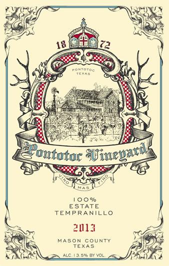 2013 Estate Tempranillo Texas Wine by Pontotoc Vineyard