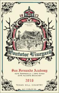 Pontotoc Vineyard 2016 San Fernando Academy Wine